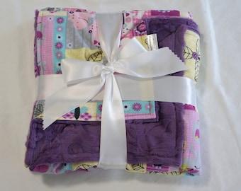 Purple Mommy 'N Me baby blanket