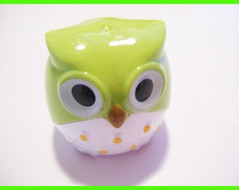 Green OWL - stationery desk Pencil Sharpener