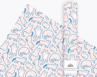 Cat Wrapping Paper, Gift Wrap