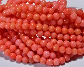 Coral Beads 8mm Half Stand Coral Beads Gemstone Beads Jewelry Making Supplies