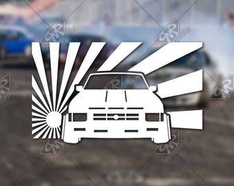 DECAL Nissan Hardbody Low Life Vinyl Decal Bumper