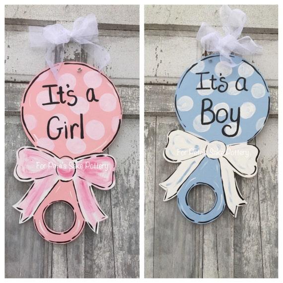 New Baby door hanger, Baby Hospital door hanger, It's a boy sign, It's a girl door hanger, baby shower door hanger, Baby door hanger