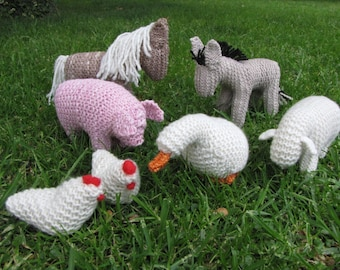 Knitted Farmyard, Merino Yarn, Waldorf