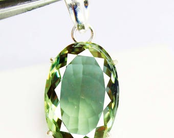 60.95Ct Certified Fantastic Alexandrite Pendant 925 Solid Sterling Silver AU3936