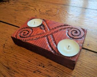 Celtic Spiral Candle Holder