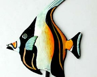 Ordinaire Tropical Fish Wall Hook, Bathroom Towel Hook, Moorish Idol, Metal Hook,  Painted