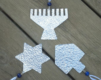 Hanukka Decorations Gift - Hanukkah Decor - Happy Hanukkah - Menorah - Star of David - Dreidel - Jewish Holiday