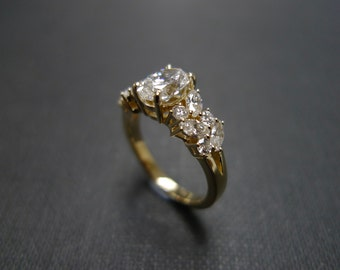 Marquise Engagement Ring Wedding Ring Diamond Ring