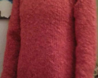 Mohair sweater in red