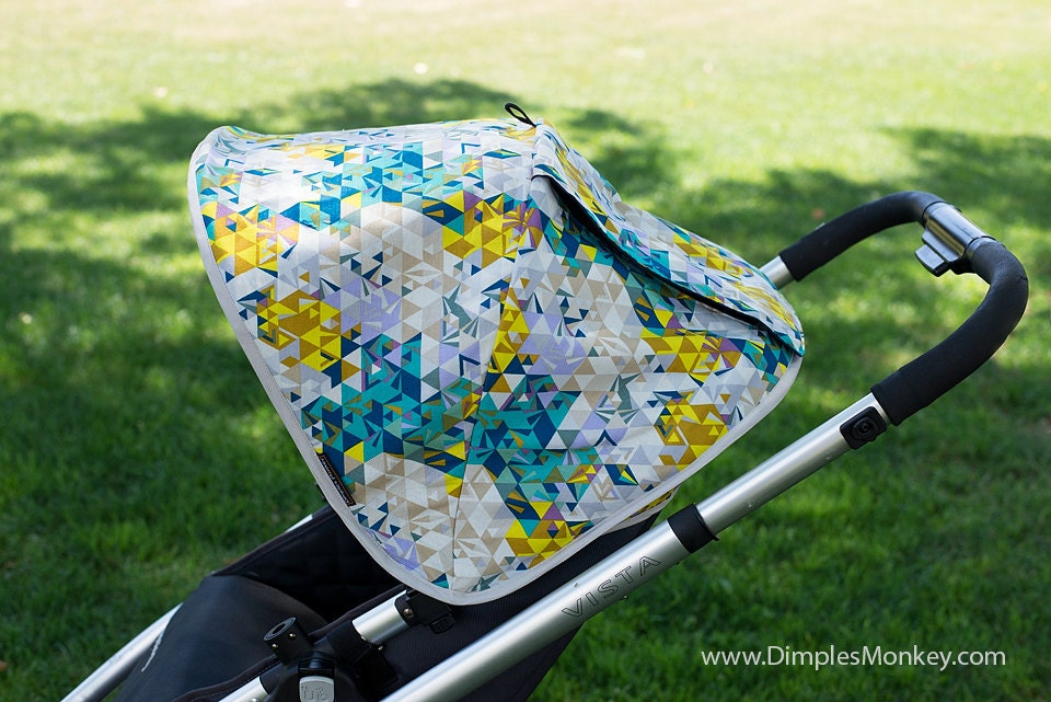 ?zoom & Custom Uppababy Vista Replacement Canopy with peekaboo window
