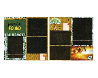 Premade Scrapbook Page Set - Paradise Found