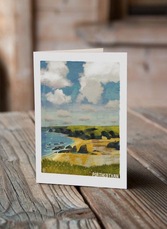 Cornish Coasts - Porthcothan Greetings Card