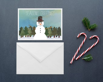 Season's Greetings - Holiday Cards / Christmas Cards - 5 Pack
