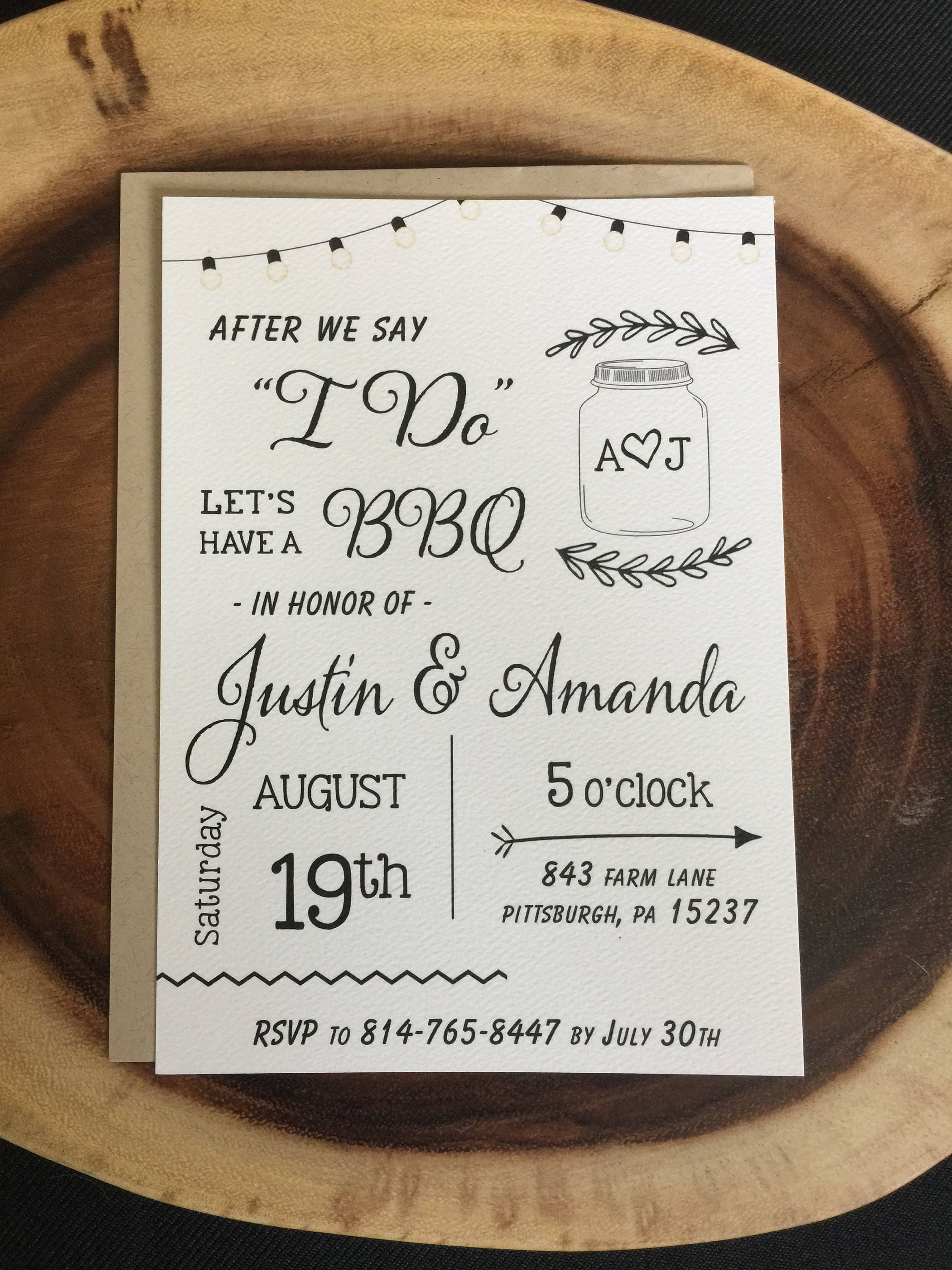 I Do Not Like: After We Say I DO Wedding BBQ Elopement