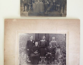 Two Vintage 1900s  Cabinet Card Photographs