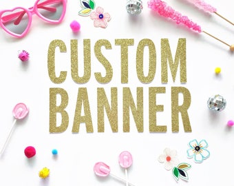 Custom Letter Banner/ Personalized Banner/ Garland/ Mermaid/ Unicorn/ Flamingo/ Baby Shower/ Bridal Shower/ 30th Birthday/ Birthday Banner