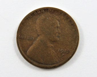 U.S. 1912 D Lincoln One Cent Coin.