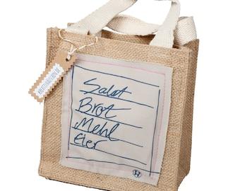 Jute bag shopping list