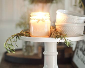 Eucalyptus + Spearmint, Hand Poured, All Natural Soy, Mason Jar, Candle, Gift, Summer Collection
