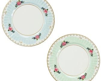 Shabby paper plates | Etsy
