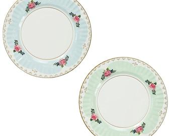 Vintage Rose Paper Plates - 2 designs 8 plates 11  diameter  sc 1 st  Etsy & Wedding paper plates | Etsy