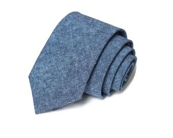 Nautical Linen Necktie~Anniversary Gift~Wedding Tie~Mens Gift~Boys Necktie~Mens Necktie~Wedding~HoBo Ties~Mens Tie~Boys Tie~Linen Tie~