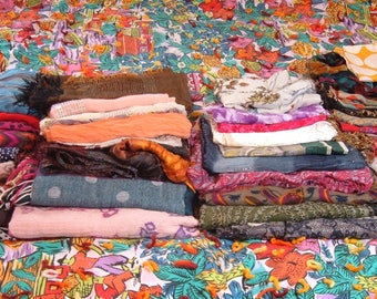 LOT of 40 Scarves, All Kinds and Sizes, for Art Materials or Resale, Lot 1