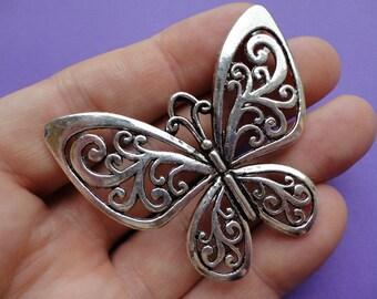 Butterfly Charm 2 pcs 53x50mm B004