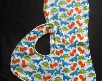 Dinosaur Bib and Burp Cloth Set