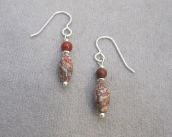 Brecciated Jasper & Red Jasper Earrings - g0873e02