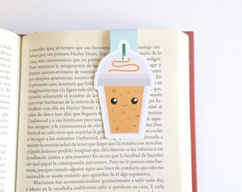 Coffee Magnetic Bookmark - Frappe Magnetic Bookmark - Double Sided
