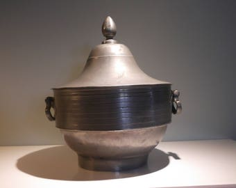 Antique Pewter Coupe