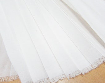 """10 Meters 150CM 59"""" Wide off white Ruffled Pleated Chiffon Fabric Solid Dress Clothes Materials LX143 2/4 Free Ship"""
