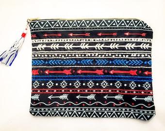 Embroidered clutch/Mexican style clutch/colourful clutch/bohemian clutch/clutch purse/bag/handbag/statement clutch
