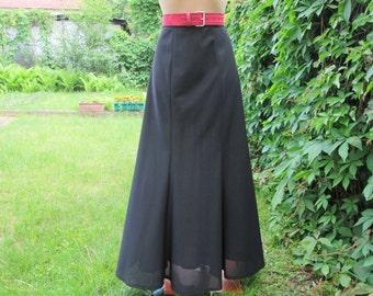 Long Black Skirt / Skirt Vintage / Maxi / Size EUR40 / UK12