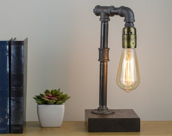 Winchester : Industrial lamp / Edison Lamp / Pipe Lamp / Steampunk lamp / Industrial Lighting / Table Lamp / Lighting/ Home Decor/Industrial