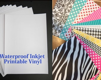 Inkjet Printable Vinyl Sheets- Create your own Printed Patterns or Labels