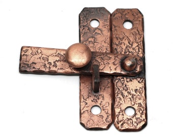 T Cabinet Latch with Textured Copper Finish