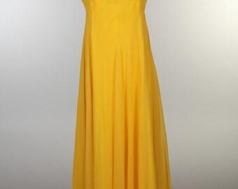 Yellow Full Length Dress