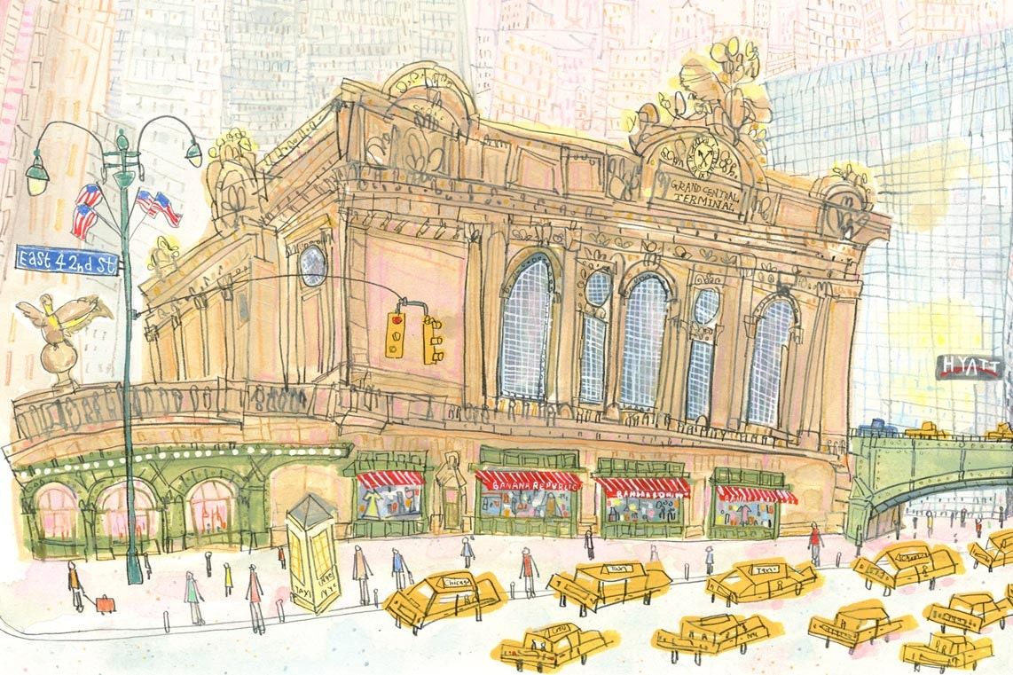 Grand Central Station New York Art E42nd St City Print NYC