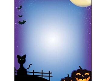 25 or 100pk All Hallow's Eve Halloween Letterhead Stationery