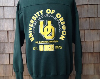 90s vintage University of Oregon Ducks sweatshirt - XL
