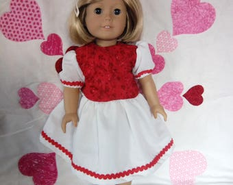 Red and white cotton dress