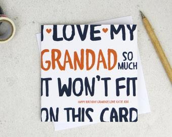 Funny Grandad Birthday Card - personalised card - card for Grandad - birthday card - funny card - Grandad birthday - uk - granddad