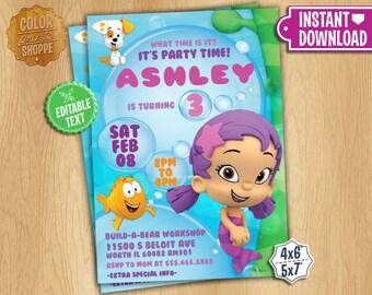Bubble guppies invitation Etsy