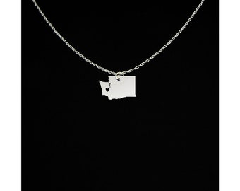 Washington Necklace - Washington Jewelry - Washington Gift