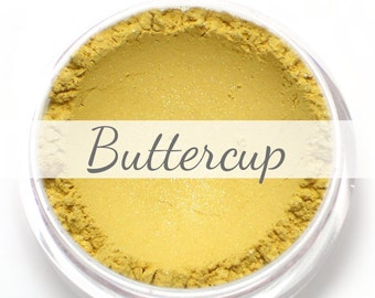 """Eyeshadow Sample - """"Buttercup"""" - shimmery pale/light yellow (Vegan) Mineral Makeup"""