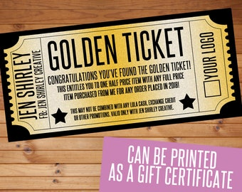 Lularoe certificates etsy golden ticket promotional item gift certificate marketing digital download colourmoves
