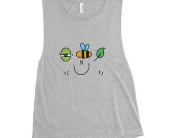 Eye Bee Leaf N U - Ladies' Muscle Tank