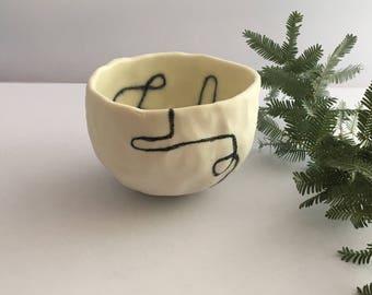 Hand built Porcelain tea cup
